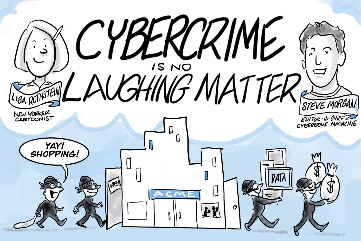 Cybersecurity Cartoons Protect You From Hackers And Identity Theft
